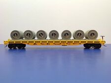 "HO Scale ""SL-SF"" 4140 Freight Train Flat Car With Cable Loads"