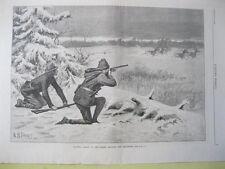 Vintage Print,HUNTING CARIBOU,Harpers Weekly,Jan5,1884