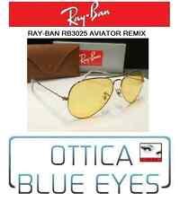Occhiali da Sole RAYBAN AVIATOR RB 3025 Ray Ban REMIX GOLD AMBERMATIC sunglasses
