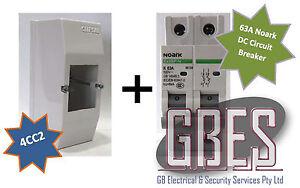 Noark DC Circuit Breaker 63A 2 Pole & Switchboard Enclosure Clipsal 4CC2 Combo