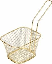 Small Gold Metal Baskets Ideal for Serving Chips Small Pieces Of Fried Fish