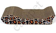 Cardboard Corrugated Scratching Pad With Catnip Small Leopard Pattern 833
