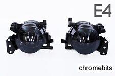 BMW E60 E61 E63 E64 03-07 FOG LAMP LAMPS LIGHTS BLACK SMOKE LEFT + RIGHT PAIR