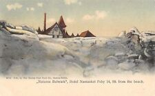 Nantasket Massachusetts~Hotel Surrounded by Snow~Feb 14 1899~Beach View~1901 PC