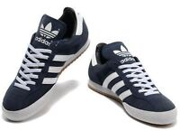 ADIDAS ORIGINALS SAMBA SUPER SUEDE MENS TRAINERS SHOES NAVY