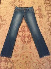 Seven 7 Women's Medium Wash Denim Straight Leg Jeans Sz 30