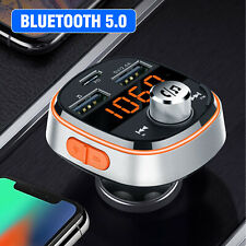 Wireless Bluetooth 5.0 FM Transmitter QC3.0 PD + USB Radio AUX Adapter Car Kits
