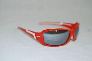 Lazer Xenon X1 Sunglasses Red Frame w/ Smoke Lens Blocks 100% UVA and UVB Rays