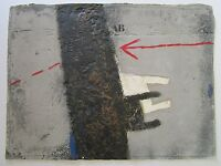 JAMES COIGNARD MIXED MEDIUM PRINT PAINTING COLLAGE MODERNISM ABSTRACT VINTAGE