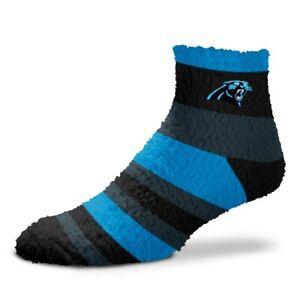 Carolina Panthers Women's NFL Rainbow Sleep Soft Fuzzy Socks - OSFM