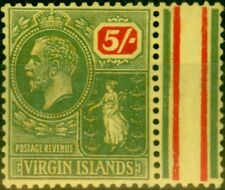 More details for virgin islands 1923 5s green & red-yellow sg101 v.f lightly mtd mint