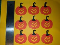 Pumpkin Die Cuts,Card Making,10 pieces Topper,embellishments,Scrapbook,Halloween