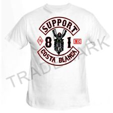 01 Hells Angels Biker White T-Shirt Support81 Big Red Machine 1% Spain M-8XL