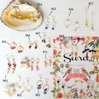 Women 925 Silver Pearl Earring Ear Studs Drop Dangle Pendant Vacation Jewelry
