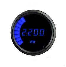 """Digital/Bargraph Memory Tachometer 3 3/8"""" BLUE LEDs BLACK BEZEL!! Warranty!!"""