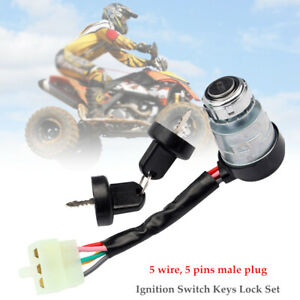 5 Wire Motorcycle Ignition Switch Lock For 4 Stroke 50cc-150cc Engine Go Kart