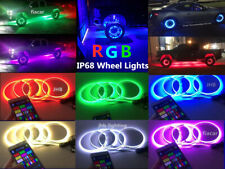 "JHB 15.5"" IP68 RGB Color Changing Bluetooth LED Wheel Rings Lights for car truck"