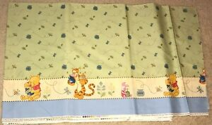 NEW Disney Cotton Winnie The Pooh Double Border  Fabric By The Yard masks NEW