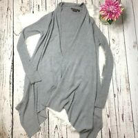 To The Max Womens Waterfall Long Sleeve Wool Blend Sweater Size M Gray