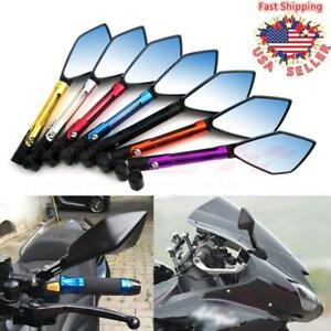 Universal CNC Motorcycle Rearview Side Mirrors For Honda Suzuki Yamaha Kawasaki