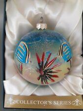 Jumbo Collectors Series~Hand Painted~Glass Ornament~Fish ~ Sea Turtle~ Ocean