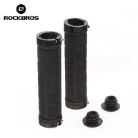 New ROCKBROS Bike Cycling MTB Fixed Gear Fixie Lock-on Grips Rubber Cool Black
