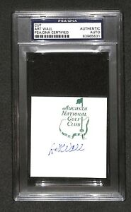 """Art Wall US Army WWII """"1959 Masters Winner"""" SIGNED Augusta National cut PSA/DNA"""