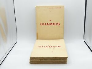 RARE MARCEL COUTURIER LE CHAMOIS CHASSE ARTHAUD 1938 2/2 ALPES HELIOGRAVURES