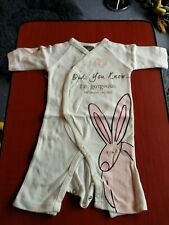 Little Rufus Baby grow. 0-6 months. Footless. With matching headband.