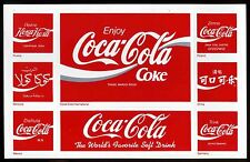 1995 Vintage Coca Cola International Stickers sheet Coke Collectible Foreign USA