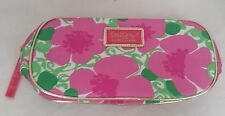 Lilly Pulitzer for Estee Lauder pink floral print zip make-up cosmetic bag case