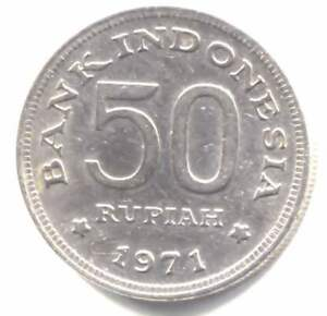 Indonesia 1971 -  50 Rupiah Coin - Bank of Indonesia - Rp. 50