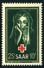 GERMANY (SAAR)-1951 Red Cross Fund Sg 301 UNMOUNTED MINT V10568