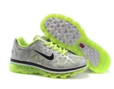 NEW Sz 11.5 Nike Air Max+ 2011 Running Shoe Cool Grey/Lime 429889-003