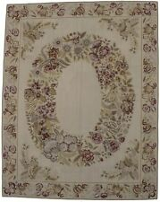 Aubusson Needlepoint Hand-Hooked 8X10 Chinese Oriental Rug Home Decor Carpet