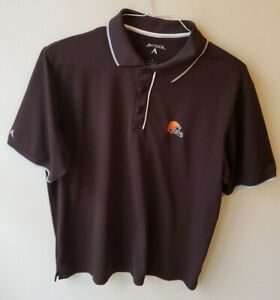 Cleveland Browns Polo Shirt Antigua Men's Large NFL S/S.