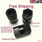 33 tooth Spline Alternator Clutch pully Removal/ Fitting Tool - 17mm Hex