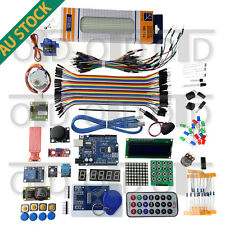 The Arduino Starter Kit UNO R3 Mega 1602 LCD Servo Stepper Motor RFID IR Remote