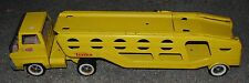 Vintage Tonka Toys Yellow Pressed Steel Car Hauler Transport Toy Truck