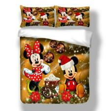 3D Mickey Mouse Christmas Bedding Duvet Cover Queen Comforter Cover PillowCase