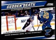2011-12 Score The Franchise Alexander Steen #17