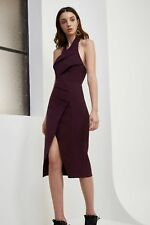 NEW C/MEO COLLECTIVE Don't Stop Midi DRESS Size XS 0 $200 AUBERGINE NORDSTROM