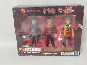Leatherface Freddy Krueger Jason Voorhees Horror Headliners 3 pack equity 2000