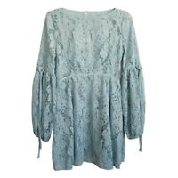 NWT$128 Free People Ruby Lace Top Dress Green Blue XS