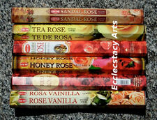 Hem Rose Incense Sampler 6 Fragrances x 20 Stick, 120 Sticks Floral Scent NEW