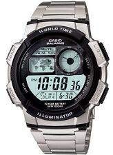 Casio AE1000WD-1AV Men's Multi Alarm Chronograph Alarm World Time Zone LCD Watch