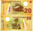 Nicaragua Billet 20 Cordobas NOUVEAU POLYMER NEUF UNC