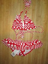 NEW* Billie Girls Sz 4 Billabong SWIMSUIT BIKINI 2 PC Set Red White Ruffles