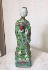 Antique famille rose Chinese figurine Immortal Statue Rare