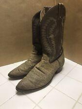 Justin Exotic Cowboy Boots 10.5